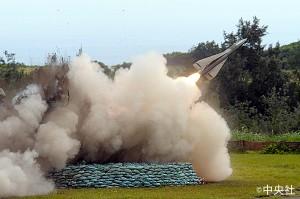 地対空ミサイル「ホーク」の発射訓練(写真提供:中央社)