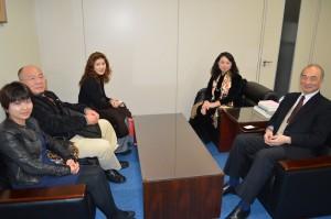 國立臺灣戲曲學院參訪團一行人特地造訪駐日代表處文化組