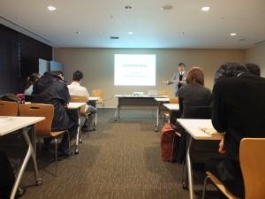 2011-2012年度理事長林敬三,說明台灣科學技術協會的活動業務