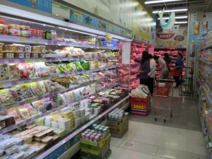 台湾では毎年旧正月時期は物価が上昇する(新北市内のスーパーにて)