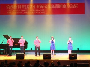 歐開合唱團的美聲演唱,在場觀眾聽得如癡如醉