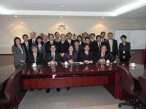 第二東京弁護士會參訪團一行人,特別造訪台北地方法院