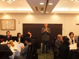 駐橫濱辦事處處長李明宗在會上致詞勉勵研習生把握機會,充實自己