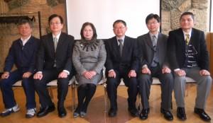 新任幹部左起:林敬三、丁鴻田、詹秀娟、張銀漢、黃銀山、盧聰明