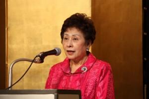 會長吳淑娥致詞感謝名譽會長羅王明珠創會至今的貢獻