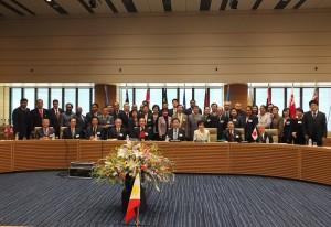 立法院長王金平(前排左五)率領立法院訪團出席APPU年會