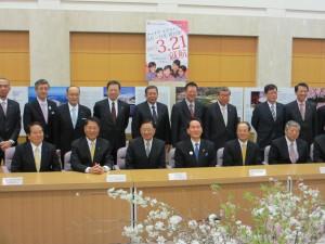 台湾訪問団と香川県担当者