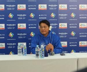 總教練謝長亨在記者會上表示,王建民可能是明天對日本的先發投手