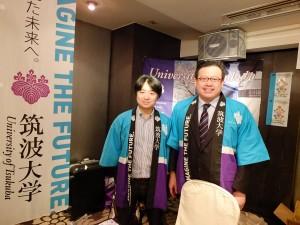 筑波大学の大庭良介助教(左)と木島譲次准教授