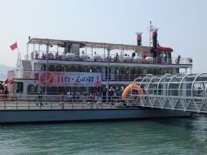 パネル展示や着物体験会場となった遊覧船