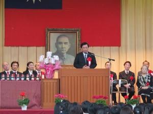 駐日代表處副代表陳調和致詞祝福畢業生鵬程萬里