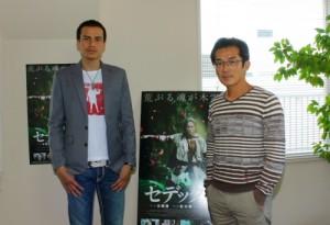 ウエイ・ダーション監督と俳優ダーチン氏。映画プロモーションのために来日。