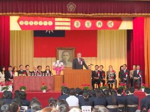 東京中華學校校長劉劍城勉勵學子能持續不斷學習