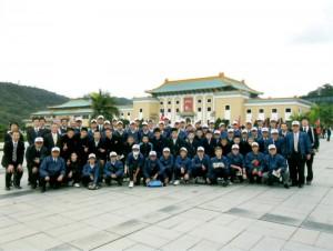 平成23年12月23日~26日に実施された中学生野球交流事業(台北)の記念写真