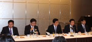 日台若手議連のメンバー(今年、2月の民進党主席一行との朝食会の様子)
