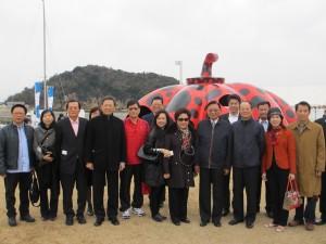 訪問団の記念撮影
