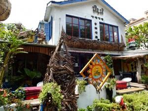エキゾチックな外観のレストラン