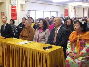 會場上眾多僑界領袖聚集參加