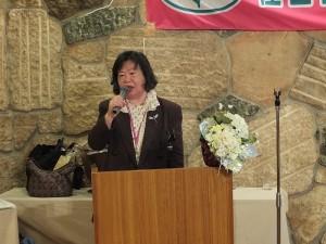 日台灣婦女會會長張信惠致詞感謝大家蒞臨參加