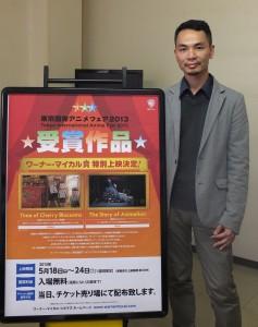 導演蔡旭晟接受本報專訪表示:下一部作品也將以台灣本土文化為題材,希望可以獲得台日各方更多的資源協助