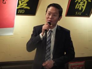 中華民國留日東京華僑總會理事謝茂根召集華僑青年一同與沈代表交流