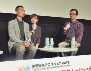 東京動畫獎首獎《櫻時》導演蔡旭晟(左)與日本知名動畫評論家冰川竜介(右),一同出席5月18日公開上映紀念座談會