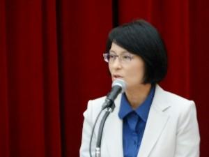 「私は申請できませんが」とユーモアたっぷりに挨拶した史亜平外務次長。