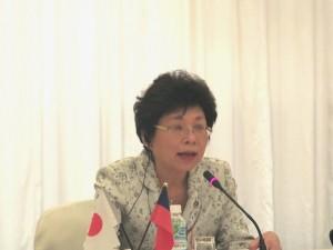 台日観光推進協議会賴瑟珍会長(議長)