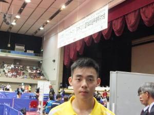 陳建安在日本桌球公開賽的男子單打賽事中獲得銅牌