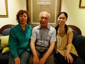 (右から)凃鳳玹氏、堤剛氏、簡荿玄氏