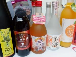 台湾で製造された泡盛と梅酒
