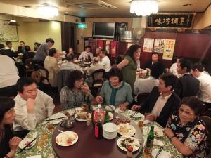 會後理監事會員們齊聚一起,舉辦懇親餐會