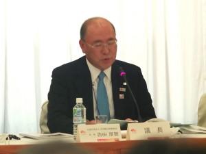 (公社)日本観光振興協会西田厚聰会長(議長)