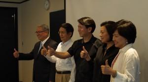 民歌歌手李建復(圖中)是「驚喜快閃合唱」發起人之一(照片提供:台北101)
