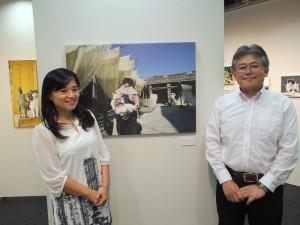 貓夫人最欣賞的日本攝影師星野俊光(左)也到場支持
