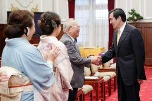總統馬英九接見日本媽祖會返國參訪團(照片提供:總統府)