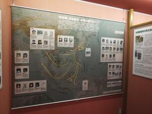 為了特展,館方特別製作了一個展示被害者被迫前往東南亞各個戰地慰安所的地圖