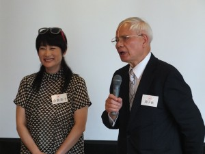 國建會日本聯誼會會長、日本關東崇正會會長周子秋,講述協助余貴美子拍攝尋根影片的過程