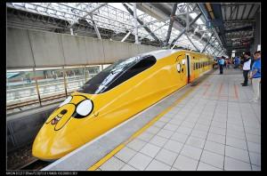 スペシャルマーキングが施された台湾高速鉄路の車輌(台湾高速鉄路提供)