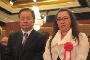 東京台湾商工会議所錢妙玲会頭(右)も出席