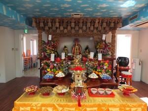 東京媽祖廟在3樓的本殿供奉從中國泉州天后宮分靈的媽祖