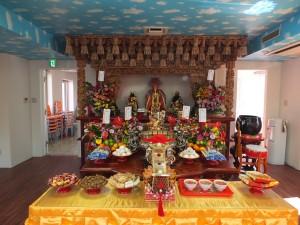 媽祖廟3階、本殿の神様。媽祖様は中国・泉州天后宮の分霊