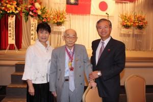 邱錦爵名誉会長と台北駐大阪経済文化弁事処処長・蔡明耀ご夫妻