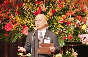 千葉縣中華總會會長浜岡禎雄表示該會將以日本極致待客之道做為中心主旨,誠摯接待人事物