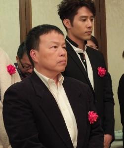 導演王小棣(前)帶著作品《刺蝟男孩》到日本,希望可以尋求海外商機
