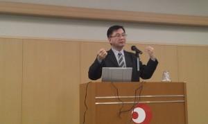 台北駐日經濟文化代表處教育組副組長林世英,應邀為留日大學教師聯誼會和中國語文學會演講