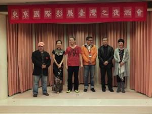 左起為此次有作品參加東京國際影展的導演,分別是導演林正盛、何文薰、黃宇哲、許肇任、陳玉勳和製片李烈
