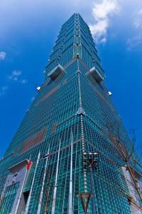 雙塔美麗大使郭雪芙拍下台灣第一高樓的景色(照片提供:台北101)