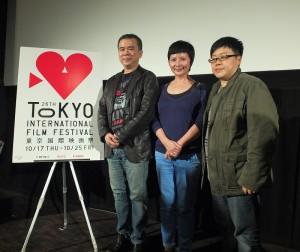 導演陳玉勳、製作人李烈和葉如芬,專程到日本參加東京國際影展