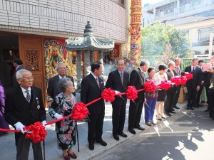東京媽祖廟於10月13日良辰吉時,舉行剪綵、安座儀式